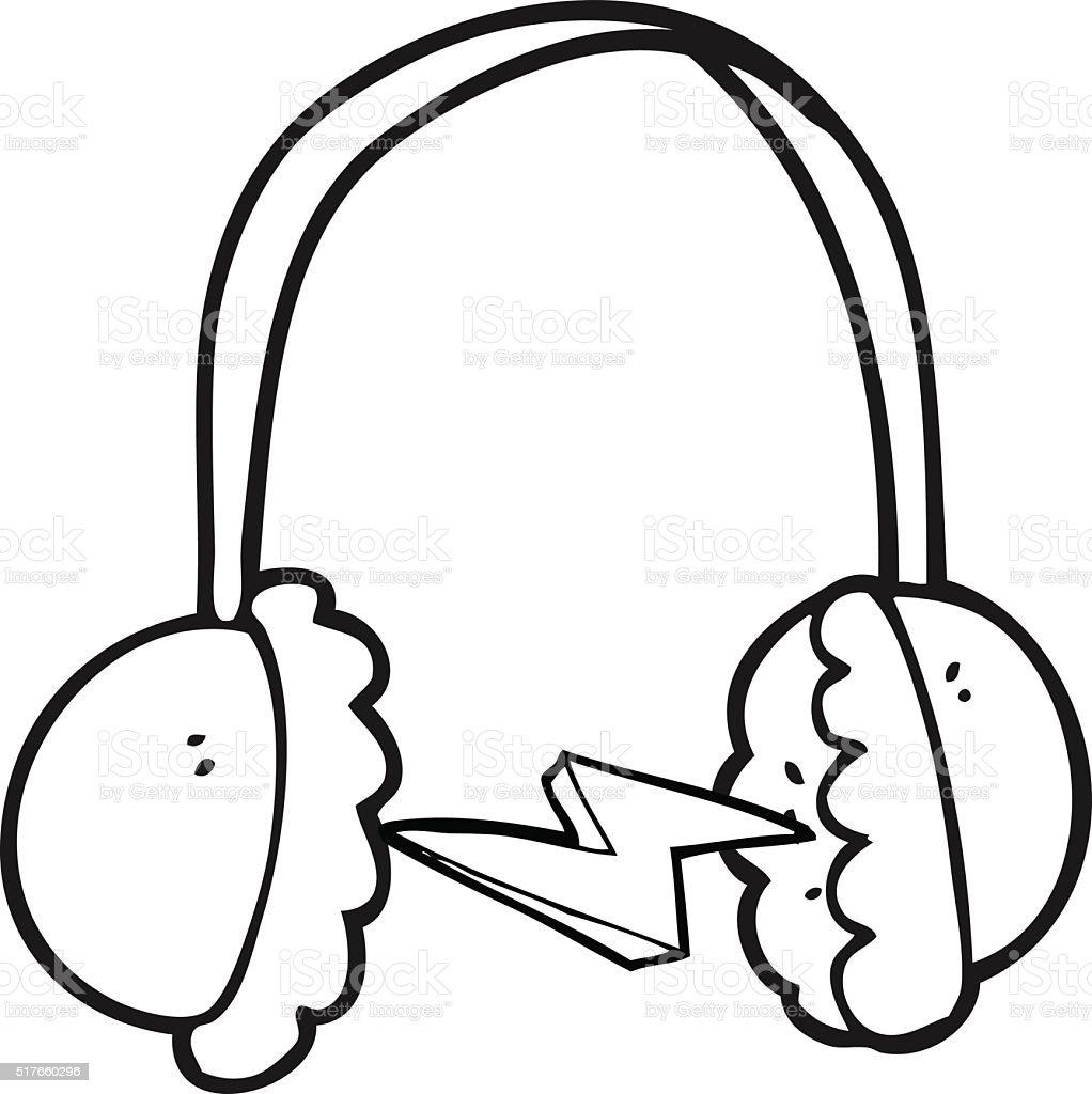 Vetores De Preto E Branco Desenho De Fones De Ouvido E Mais