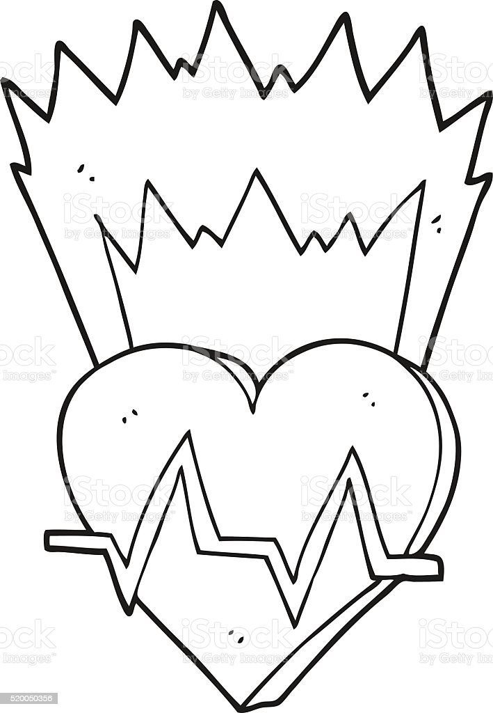 Ilustración de Blanco Y Negro De Historieta La Frecuencia Cardíaca y ...