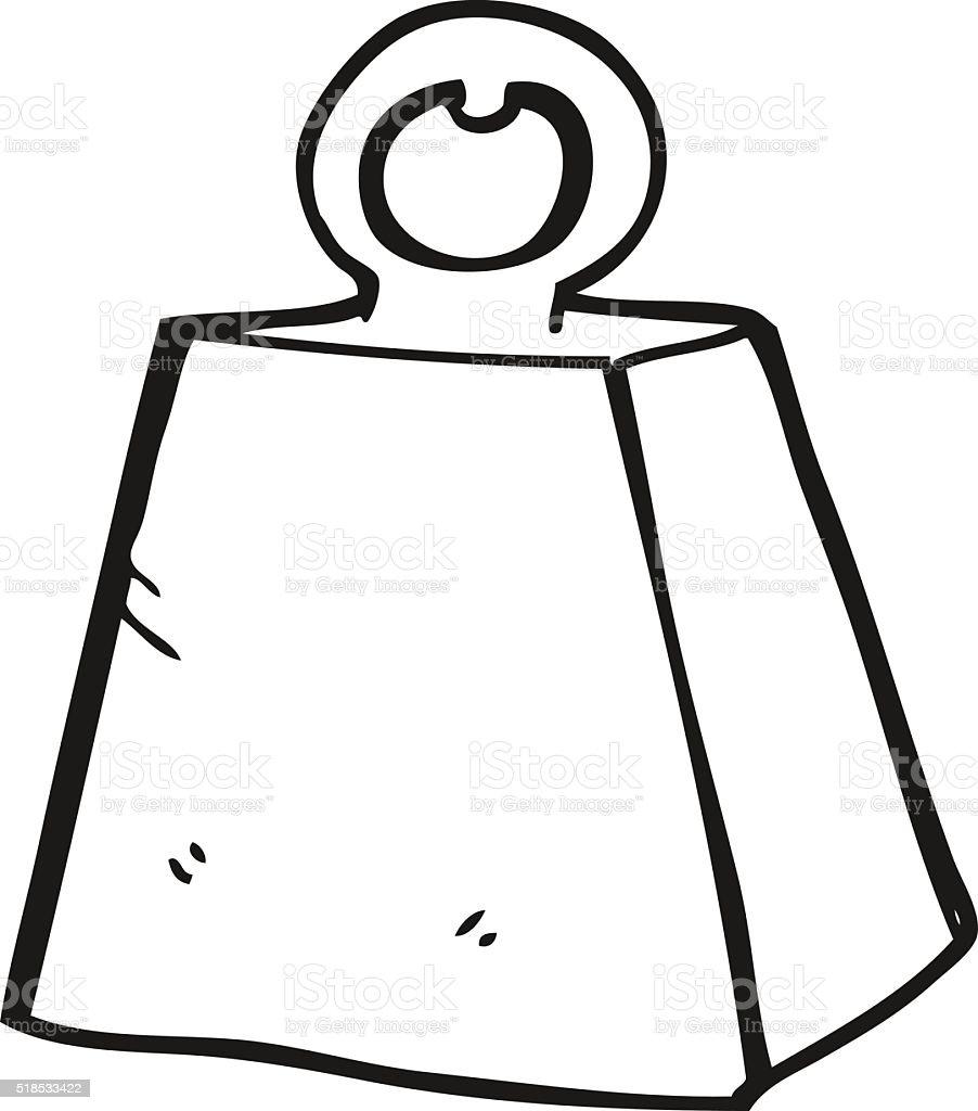 schwarz und wei cartoon schweres gewicht stock vektor art. Black Bedroom Furniture Sets. Home Design Ideas