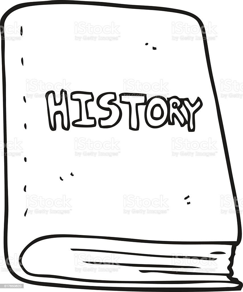 Black And White Cartoon History Book Stock Vector Art ...