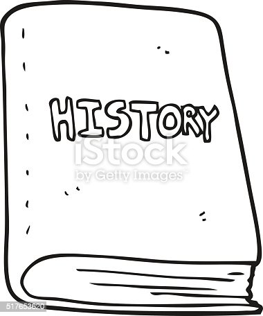 Black And White Cartoon History Book Stock Vector Art
