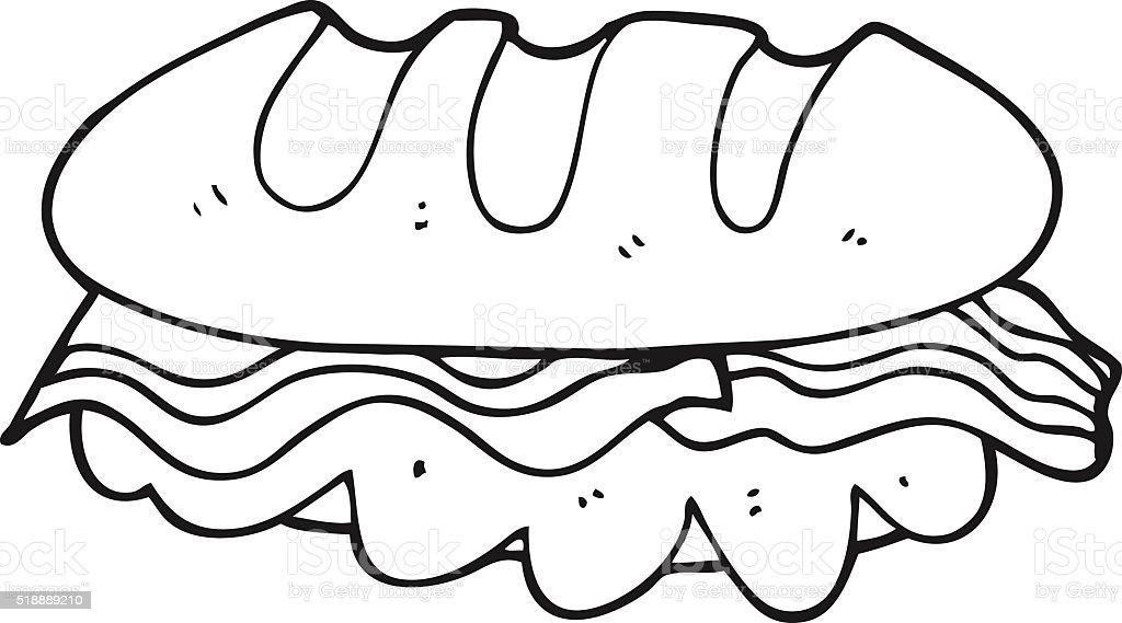 black and white cartoon huge sandwich stock illustration download image now istock https www istockphoto com vector black and white cartoon huge sandwich gm518889210 90284207