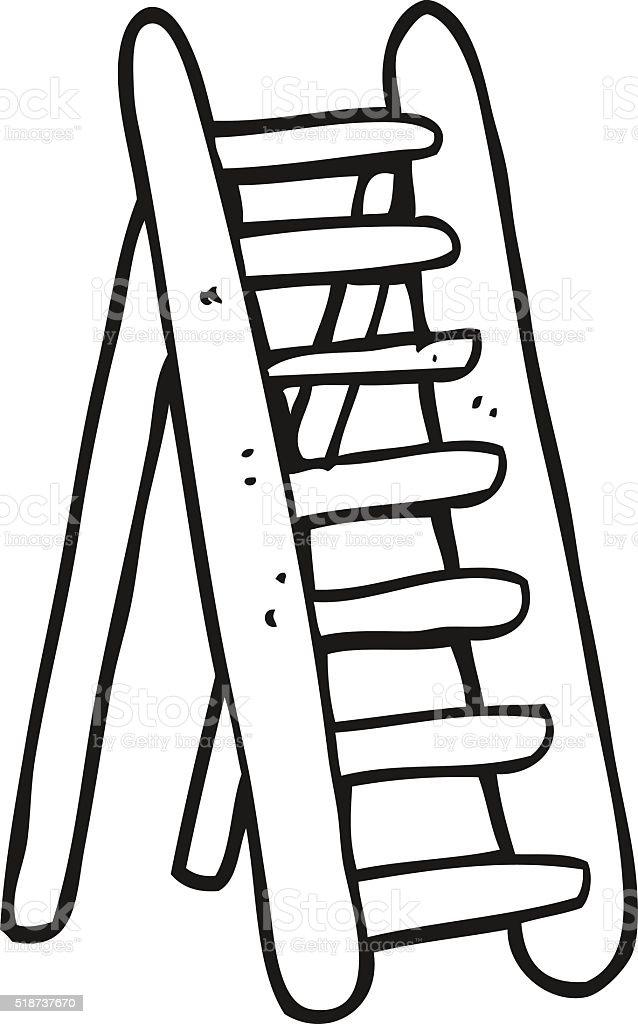 Preto e branco desenho de escada arte vetorial de acervo - Escaleras para pintar ...