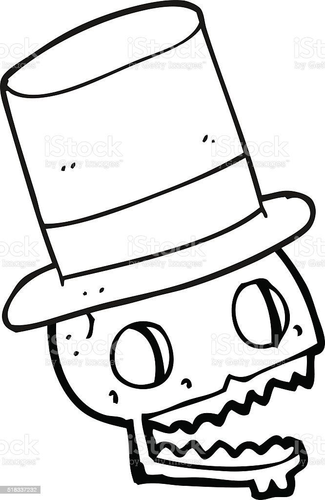 Vetor De Preto E Branco Desenho De Chapéu De Caveira
