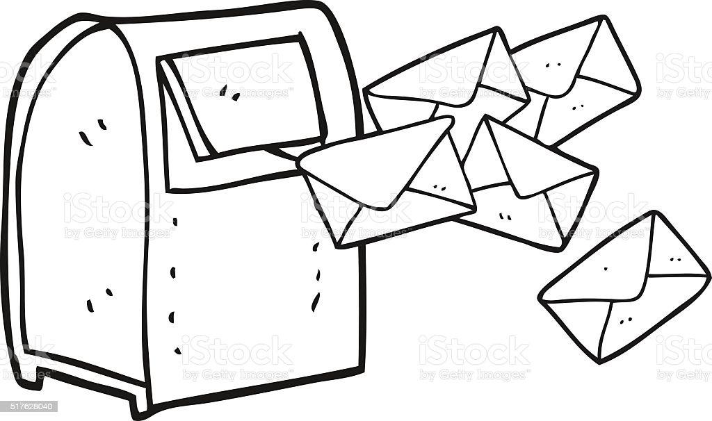 black and white cartoon mailbox stock vector art more images of rh istockphoto com Cute Mailbox Clip Art US Mailbox Clip Art