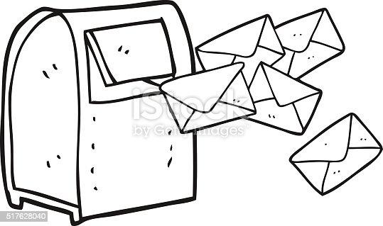 Black And White Cartoon Mailbox Stock Vector Art & More
