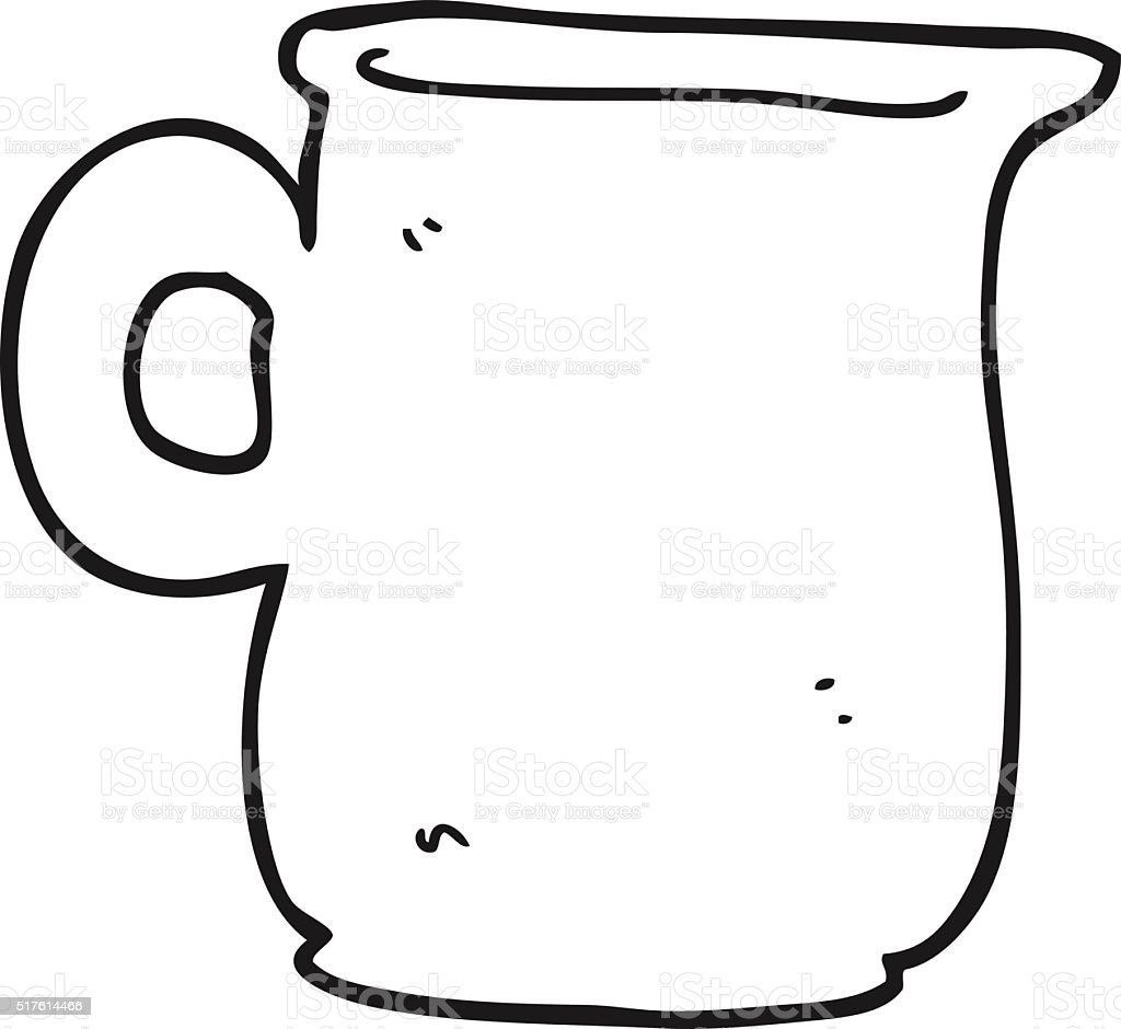Black And White Cartoon Milk Jug Stock Vector Art More Images Of