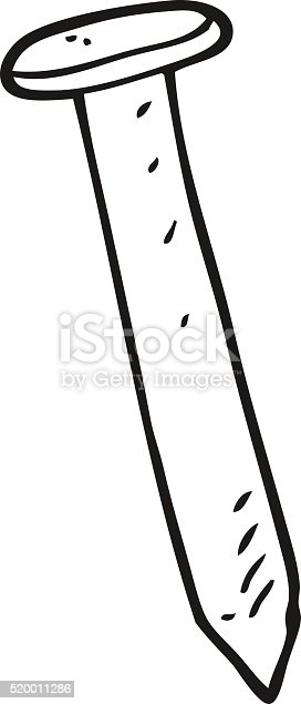 black and white cartoon nail stock vector art  u0026 more images of bizarre 520011286