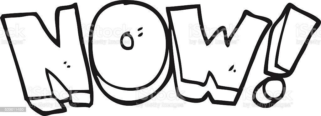 Noir et blanc Symbole de dessin animé maintenant noir et blanc symbole de  dessin animé maintenant f5d6ad4de7b3