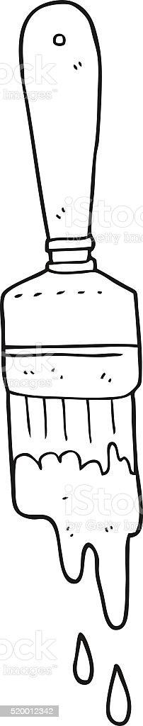 Schwarz Und Weiß Cartoon Malen Pinsel Stock Vektor Art Und Mehr