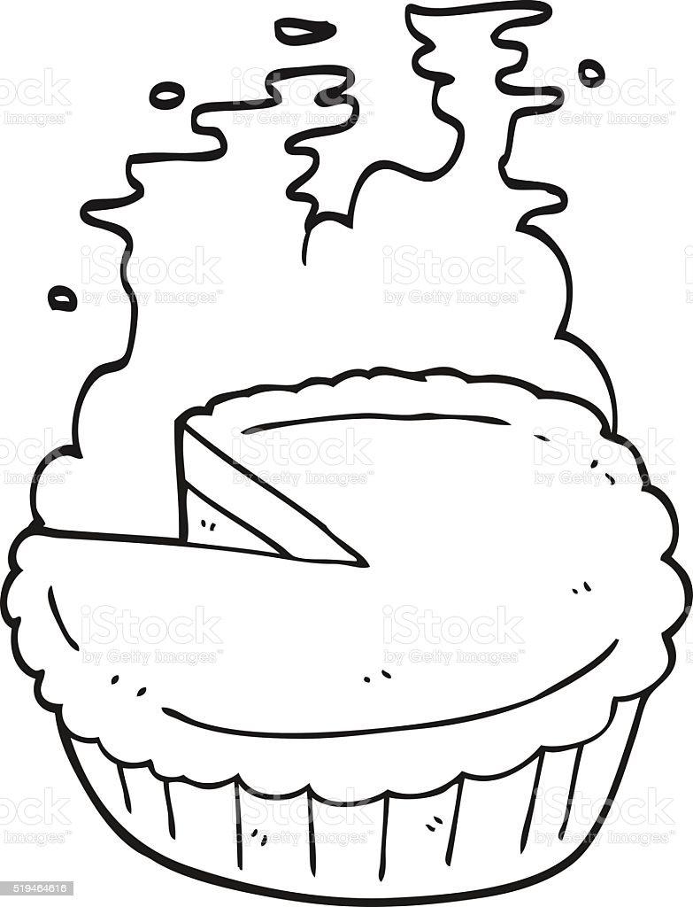 Schwarz Und Weiß Cartoonkuchen Stock Vektor Art und mehr Bilder von ...