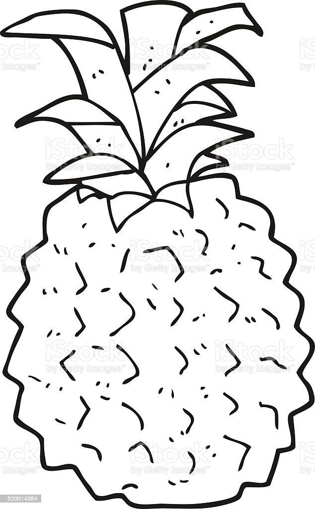 Bianco E Nero Fumetto Di Ananas Immagini Vettoriali Stock E Altre