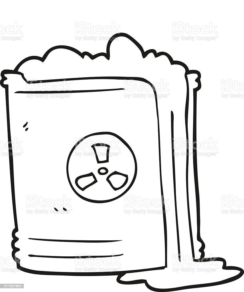 Ilustración De Blanco Y Negro De Los Residuos Radiactivos De