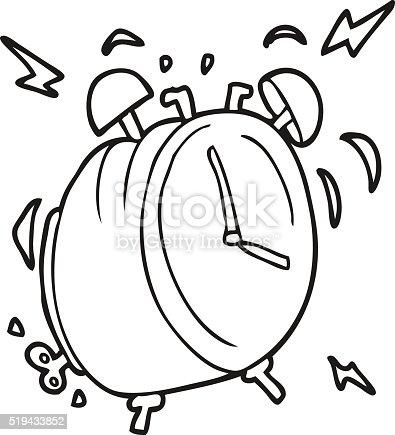 Ilustración de Blanco Y Negro De Historieta Reloj Despertador ...