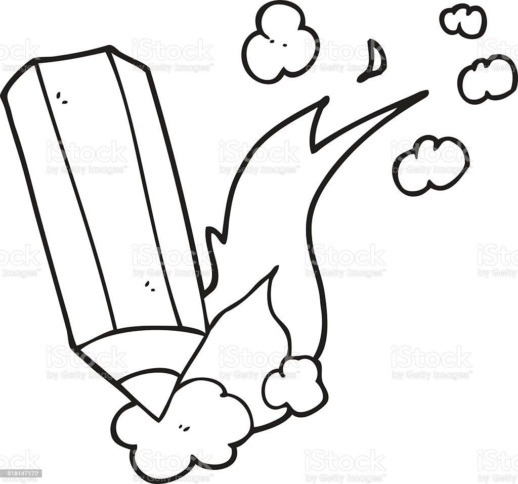 Black And White Cartoon Scribbling Pencil Stock Vector Art More