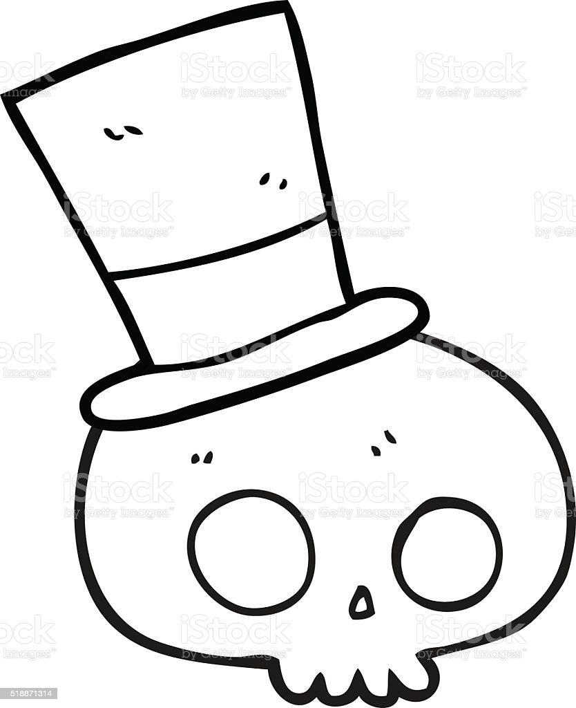 Vetores De Preto E Branco Com Chapéu De Caveira Dos Desenhos
