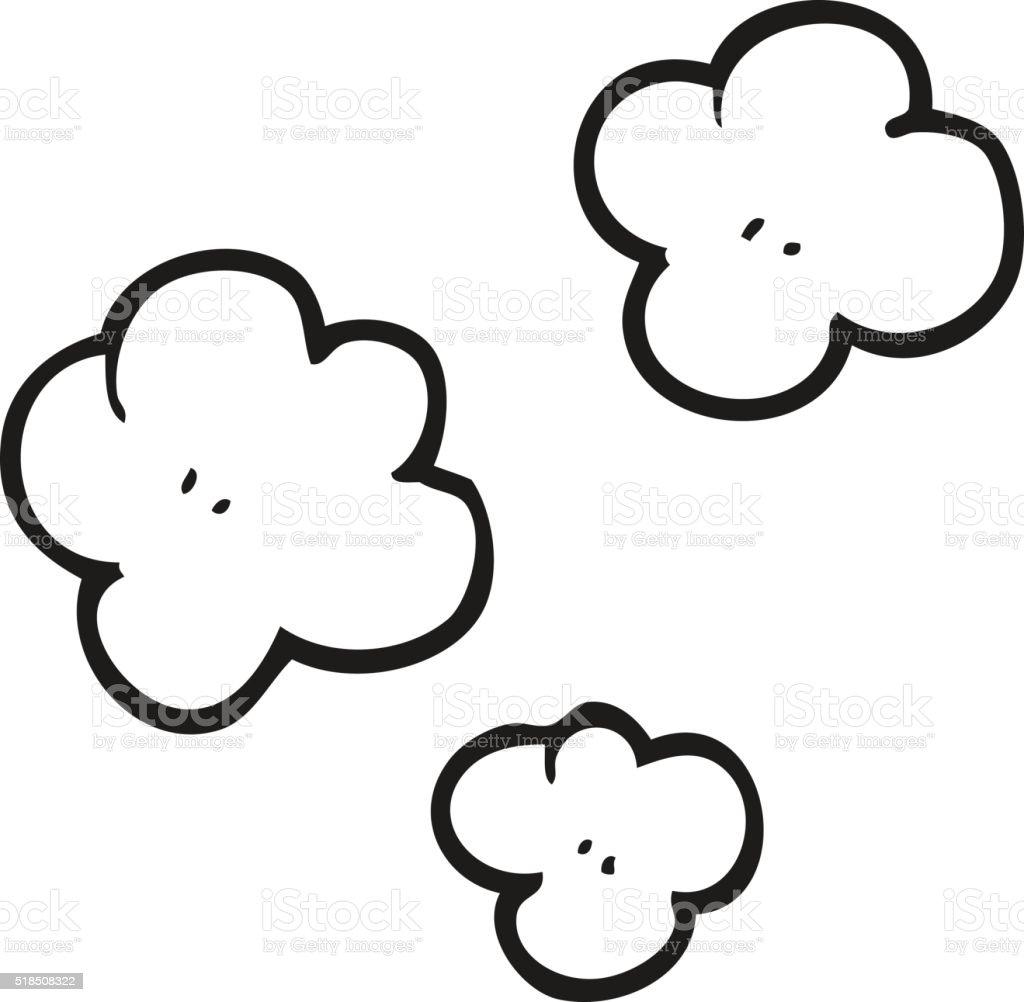 白黒イラストクラウドシンボル煙 いたずら書きのベクターアート素材や