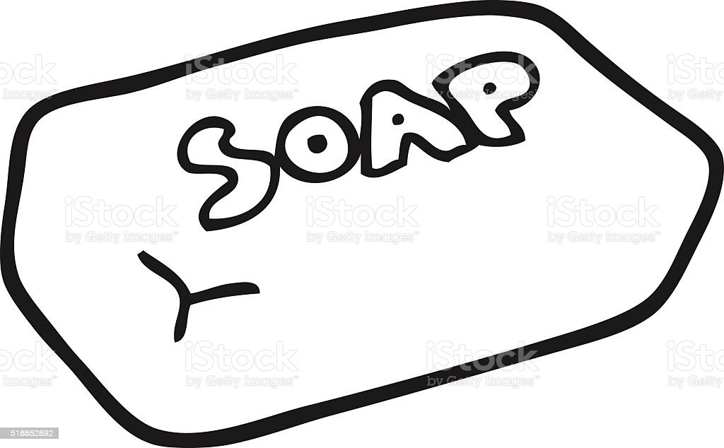 Black And White Cartoon Soap stock vector art 518852892 | iStock