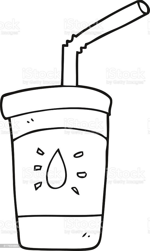 Schwarz Und Weiß Cartoon Limo Getränke Stock Vektor Art und mehr ...