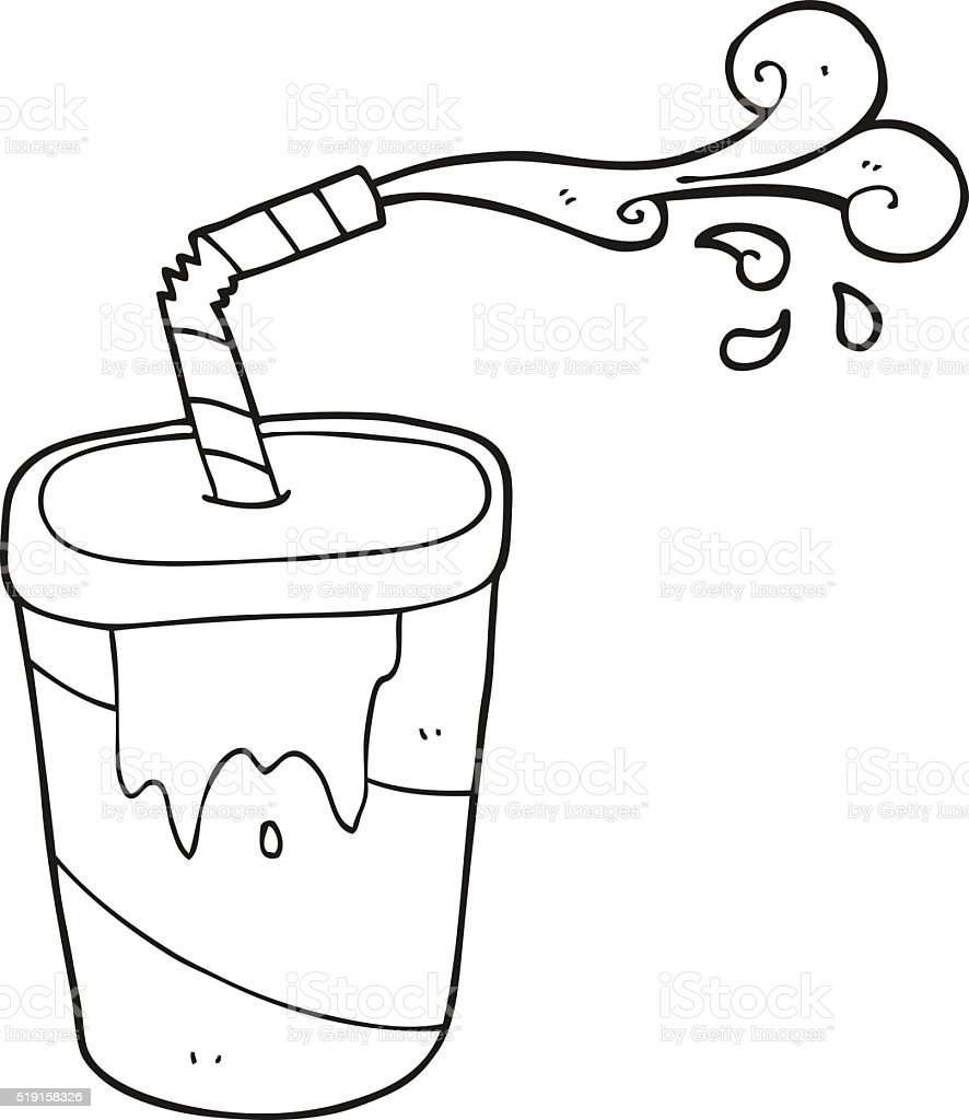 Black And White Cartoon Soda Stock Vector Art More Images Of