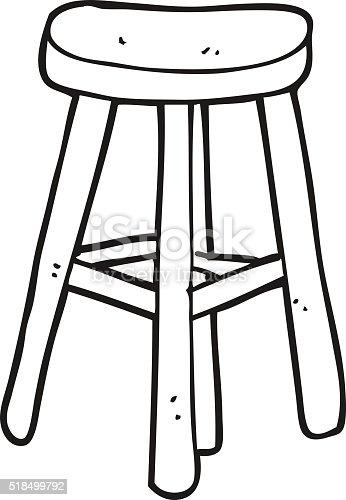 Tabouret De Dessin Anim 233 Noir Et Blanc Vecteurs Libres