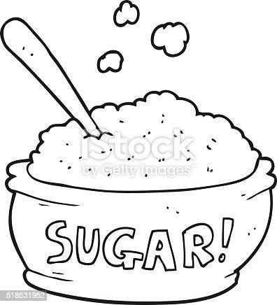 Black And White Cartoon Sugar Bowl Stock Vector Art & More