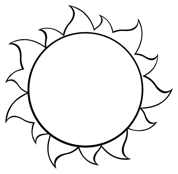 Sun Clipart Black And White Clip Art, Vector Images ...