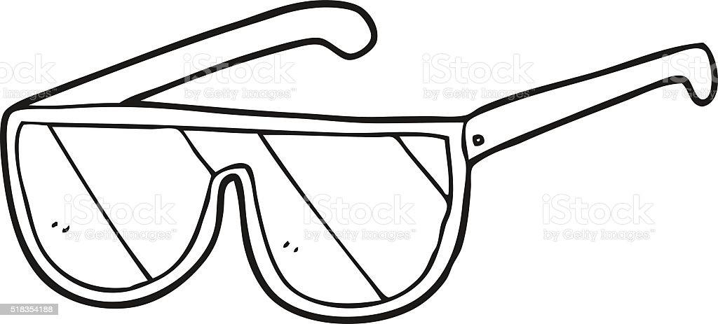 Bianco E Nero Fumetto Occhiali Da Sole Immagini Vettoriali Stock E