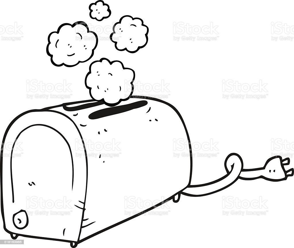 Ilustración de Blanco Y Negro De Historieta Tostadora Para Fumadores ...