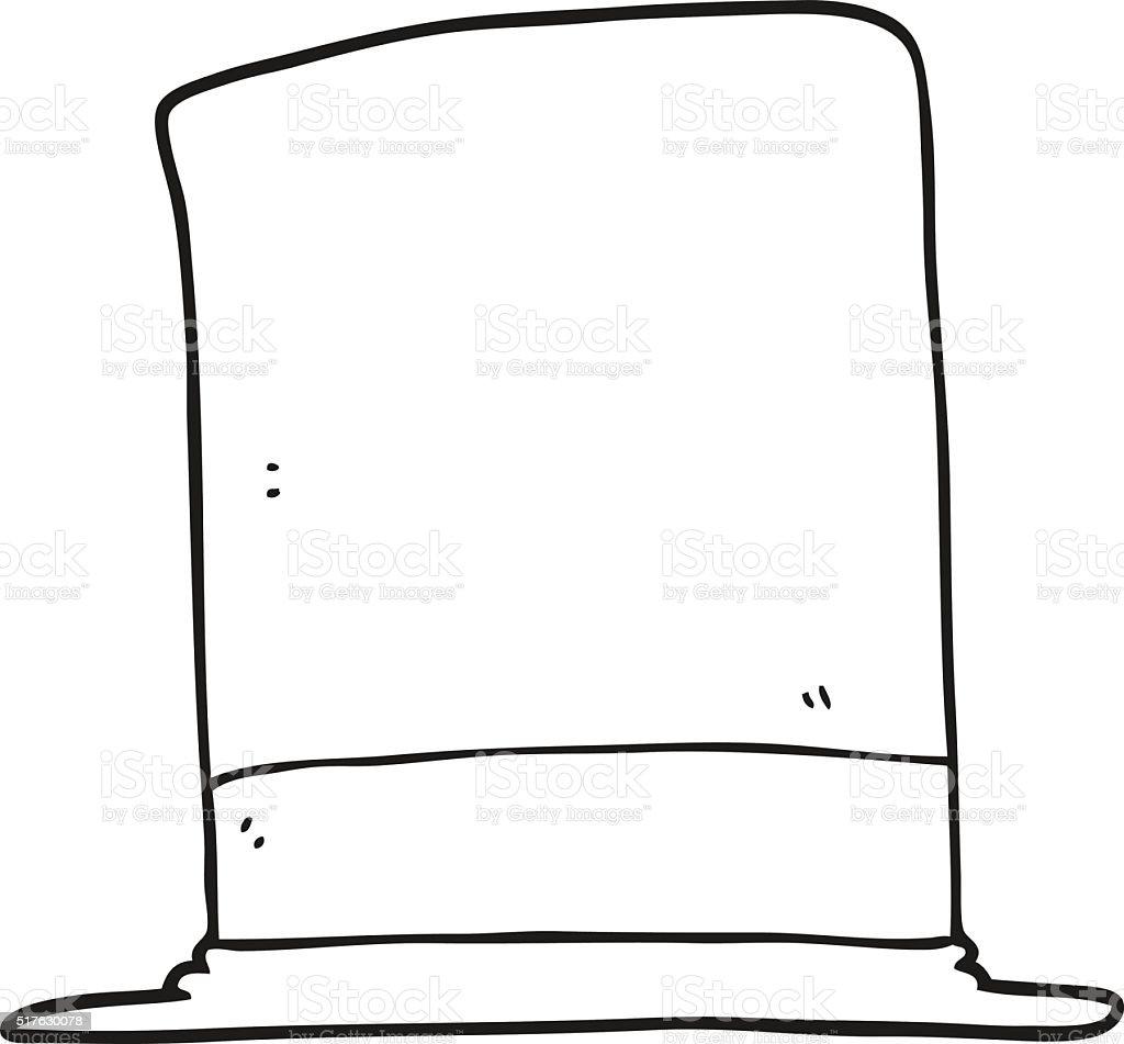 Noir Et Blanc Dessin Animé Chapeau Vecteurs Libres De Droits Et