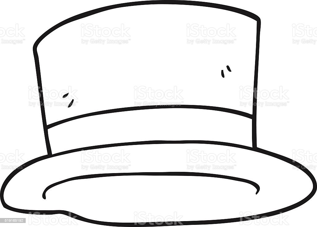 black and white cartoon top hat stock vector art amp more