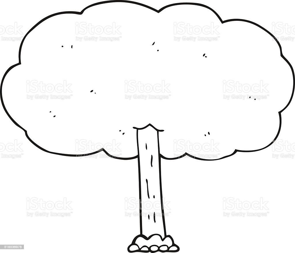 白黒イラストの木 いたずら書きのベクターアート素材や画像を多数ご