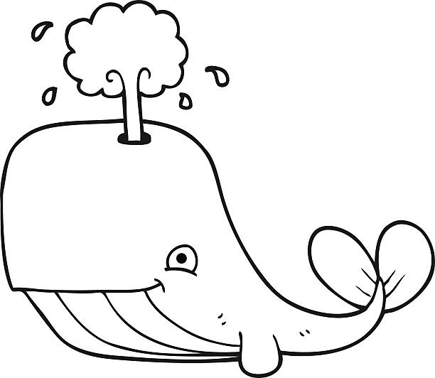 Whale Black And White Clip Art Royalty Free Wh...