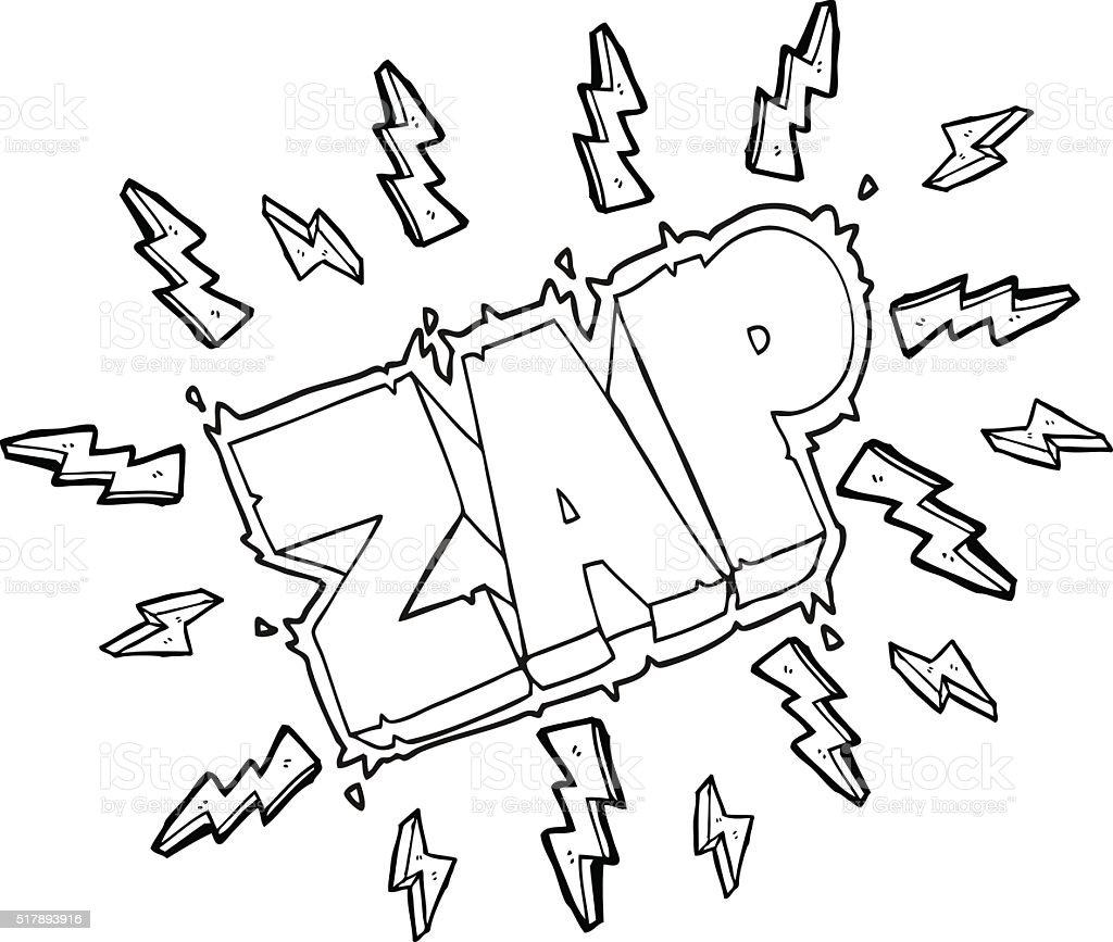 Black And White Cartoon Zap Symbol Stock Illustration Download