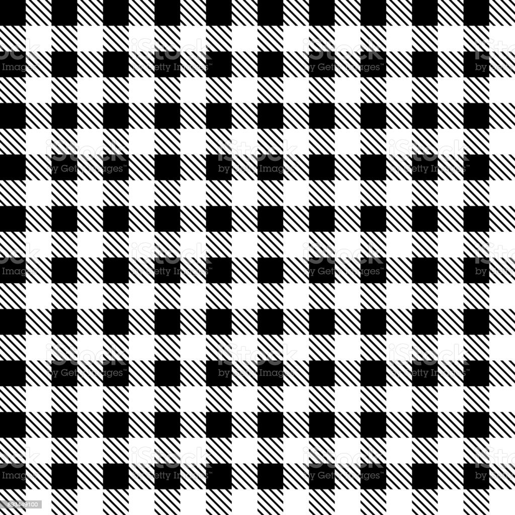 Black And White Checkered Fabric Vector Illustration Stock Illustration Download Image Now