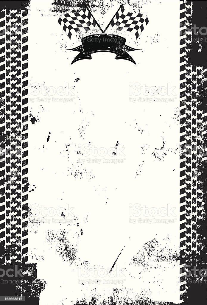 Black and white checkered flag background print vector art illustration