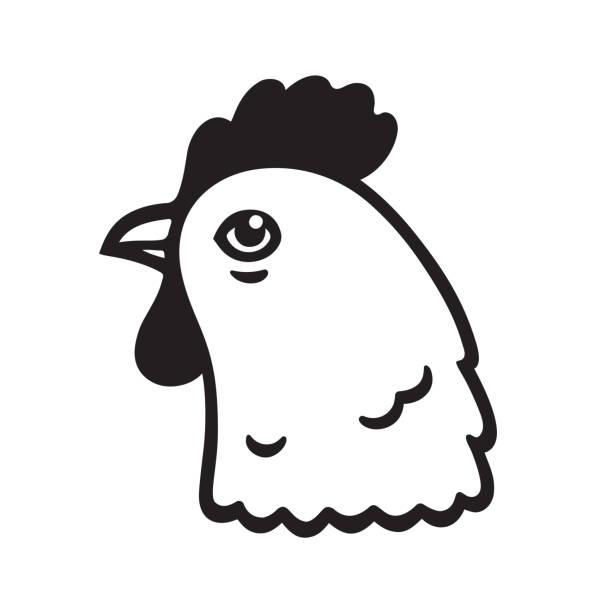 Chicken Head Clipart