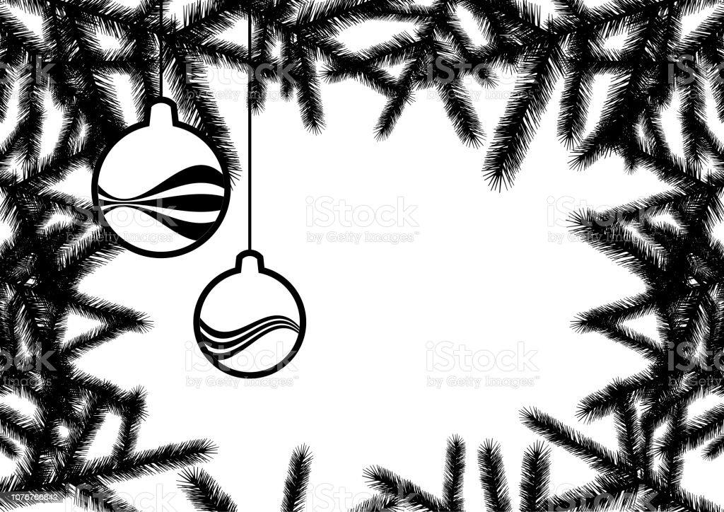 Vecteur De Fond Pour Le Noel Noir Et Blanc Vecteurs Libres De Droits Et Plus D Images Vectorielles De Arbre Istock