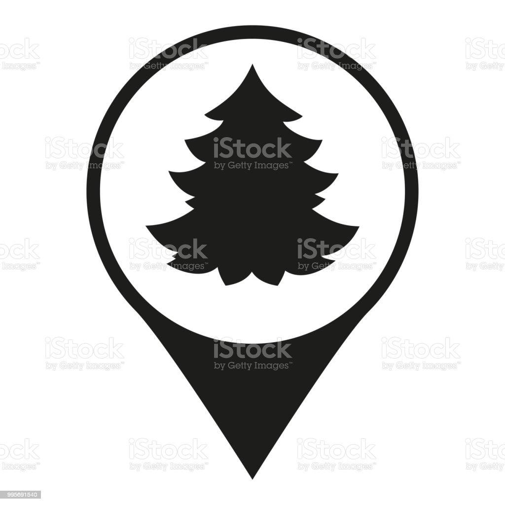 Weihnachtsbaum Schwarz Weiß.Schwarz Weiß Weihnachtsbaum Markt Karte Zeichen Stock Vektor Art Und