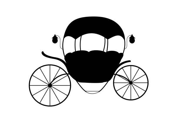 silhouette of a cinderella carriage invitations clip art vector images illustrations
