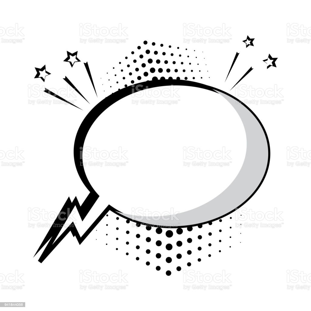 Black and white comic bubble for your text. Comic sound effects in pop art style. Sound bubble speech with word and comic cartoon expression sounds illustration. Vector illustration. vector art illustration