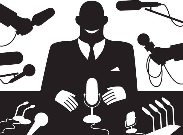 illustrations, cliparts, dessins animés et icônes de bonne nouvelle - interview