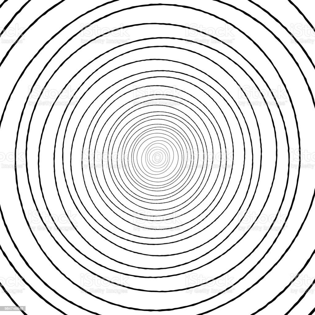 Black and white concentric circle pattern drawing. royalty-free black and white concentric circle pattern drawing stock illustration - download image now