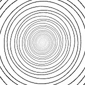 Black and white concentric circle pattern drawing.