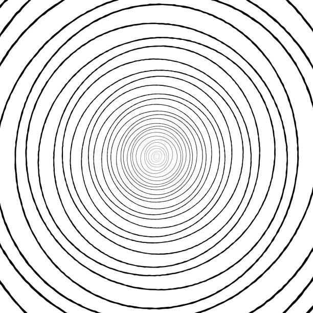 ilustrações, clipart, desenhos animados e ícones de padrão de círculo concêntrico preto e branco de desenho. - texturas de riscos