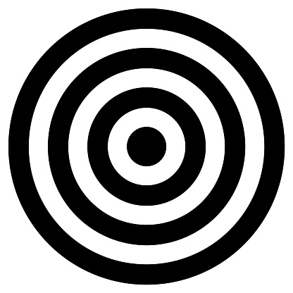 Black and white concentric cirlcles