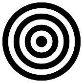 istock Black and white concentric cirlcles 977716242