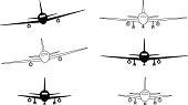 Black and white contour planes