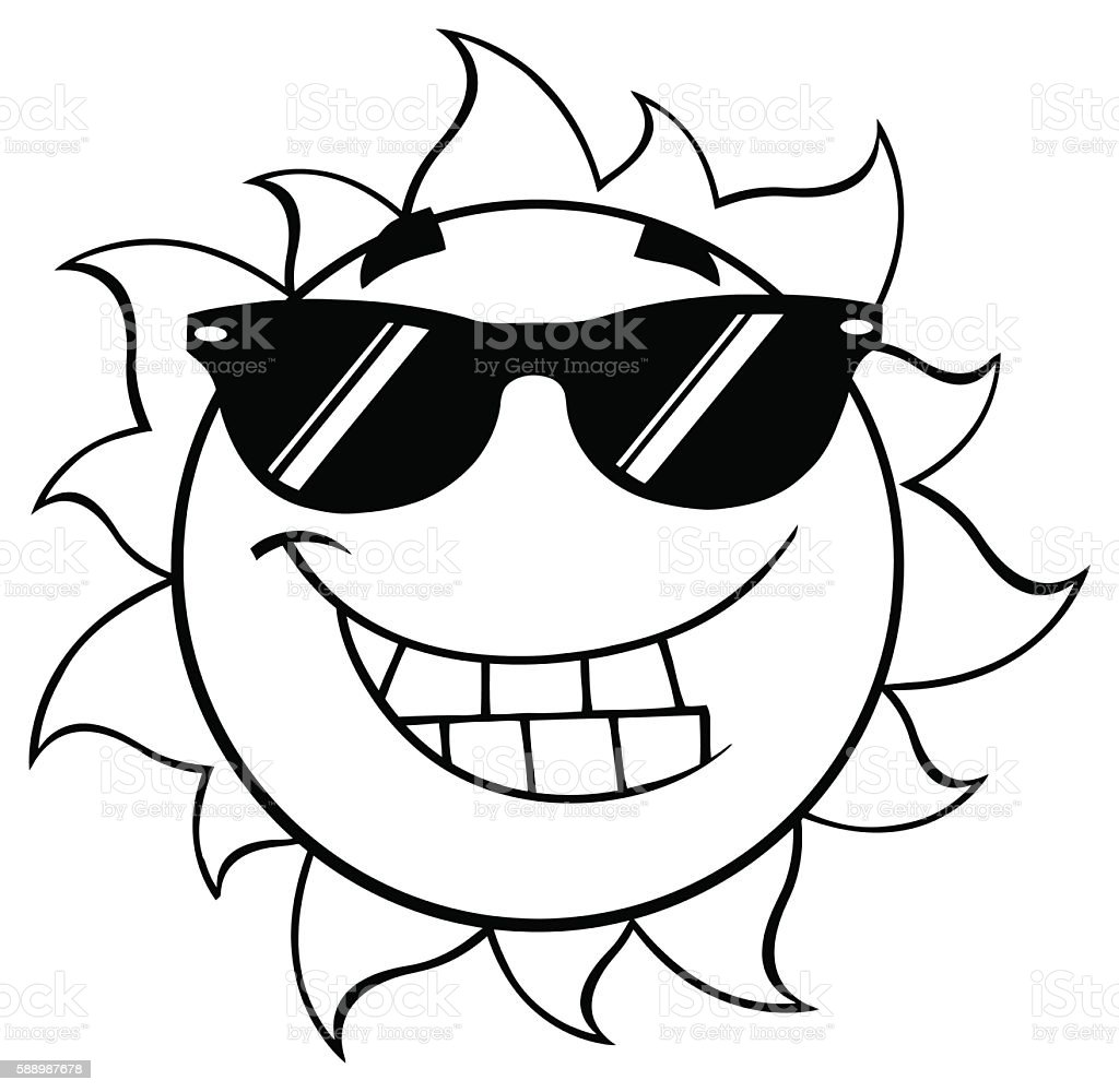 royalty free sun clipart black and white pictures clip art vector rh istockphoto com clipart black and white sunglasses sun clipart black and white png