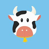 Black and White Cow Vector